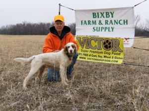 Tom Krause finished second in the May 9th gun dog trial.